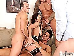 Cindy Dollar - 4 On 1 Gang Bang