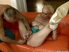 This insatiable whore goes crazy about fisting, her snatch is pretty flexible and she loves getting one stretched over and over again by her horny friend.