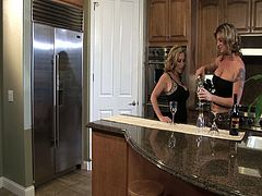 Three gorgeous Milfs Kayla Quinn, Savannah Jane and Michelle Le engage in hot lesbian sex. They drink some wine and before you know it, they're making out, taking off their clothes and eating each others' pussy, wanna see?