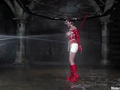 This lusty redhead honey is so fucking crazy! She loves being tortured and dipped in the immersion tank. She loves being painsulted for sure!
