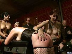 Poor Beretta James get spanked and toyed by her master