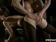 Sexy bitch Tarra White is having a good time with a horny man. She drives him mad with a stunning blowjob and then they have ardent anal doggy style sex.
