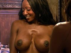 Watch the busty ebony goddess Diamond Jackson as she gets ready to be fucked deep and hard into an amazing orgasm. That cunt of hers is as perfect as her hot tits.
