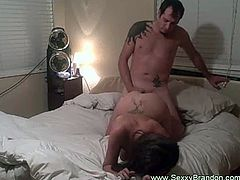 Watch a nasty brunette belle getting on all fours and letting her man pound her tight pink cooch balls deep into a superb explosion of pleasure.