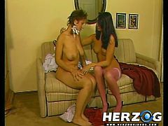 Hot retro babes massage each others pussies and tits in this vintage lesbian scene. Watch as they get soaking wet!