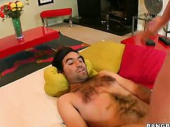 Victoria Lawson with big butt makes dudes schlong harder before getting her beaver slam fucked
