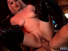 See the naughty brit blonde Alexandra Cat flaunting her hot tits while riding her man's dong into heaven with her hot ass.