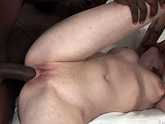 Naughty girl with slim sexy body and appetizing natural tits is having sweaty sex with her coeds. She sucks juicy cock deepthroat while getting rammed deep in her cunt from behind. Arousing fuck video presented by Fame Digital.