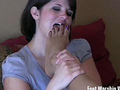 These vixens show off their perfect feet and start giving the most amazing footjobs. One of them licks a babe's feet.