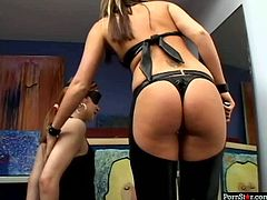 Pornstar studio presents you the scene of domination/submission starring two feisty porn actresses. They both are wearing sexy costumes looking hot as fuck. One punishes the other with whip. Arousing video presented on ANYsex.com