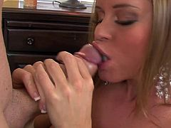 Amazing pornstar is simply staggering when deep sucking cock in POV style