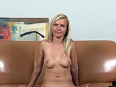 Natural blonde Bella Baby has hot interview