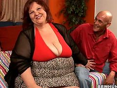 Pres play on this hardcore video and have a look at this mature BBW's huge flaccid body as her wet pussy's fucked by this brave guy.
