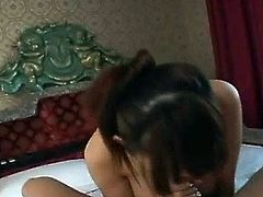 Rina Wakamiya is not someone who gets cucumbers lightly. When she's presented close by 2 cocks, she
