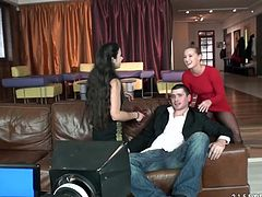 Sexy blonde bitch Mira Cuckold is having fun with some handsome tattooed guy indoors. The man fucks Mira's snatch doggy style and pulls her by her long hair.