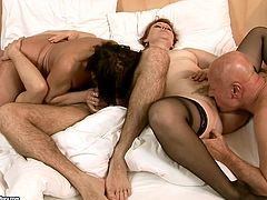 Extremely perverted mature sluts get their cock sucking and fucking skills tested in this wild group sex video. Press play and enjoy the show!