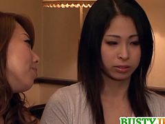 Minami Ayase and her lesbian GF are having a good time together.They both have nice pairs of tits and hairy pussy.Watch these both in strap-on sex and pussy licking action.