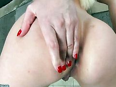 Blonde Lena Cova poses for your viewing entertainment in solo scene