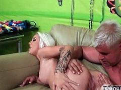 Rimjob for tattooed blonde Stevie Shae