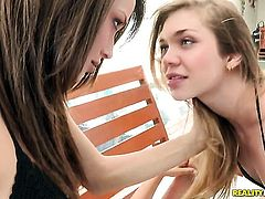 Blonde Malena Morgan does striptease before she sticks her fingers in her love hole