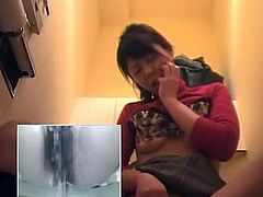 Watch this hot and Japanese horny babe sitting in toilet and pissing, Luckily we had installed over spy camera their so you wont miss this hot chance.