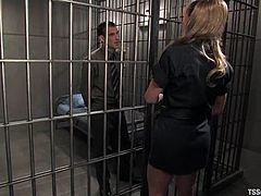 This smoking hot and delightful babe Danielle Foxxx is a kinky shemale, who comes to be a lawyer of Steven. The only way to get him out of jail is to fuck him hard.