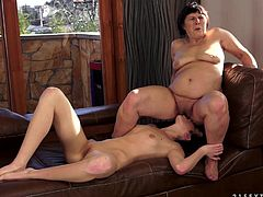 No generation gap, when it comes to a hot lesbian sex! Sizzling and charming Daniella Rose gets naked with a aged lady Margo T and so it goes on.