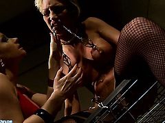 Blonde Katy Parker with huge jugs and Pearl Diamond enjoy lesbian sex they won't soon forget