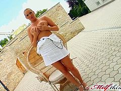 Stunning Anal MILF Mandy Bright Gets Covered In Thick Cum In a 3some VideosZ Tweet 5 1 41% Rate this video! Add to Favorites Add Comment Duration: 5m:00s When these guys told Mandy they wanted to have a threesome with her she put on her sexiest lingerie and started sucking their big cocks. Then, this brunette anal MILF with a hot ass got a double penetration and ended up taking thick cumshots on her massive knockers and trimmed pussy.