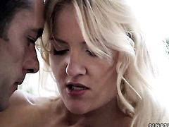 Blonde Andrea Francis groans in fucking ecstasy with hard dicked fuck buddy