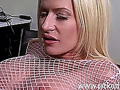 Lauren Kain in sexy fishnet