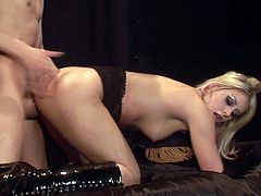 Press play and hear Lacie Heart moan like never before in this hardcore video where her tight pussy's nailed by a this guy's big cock.
