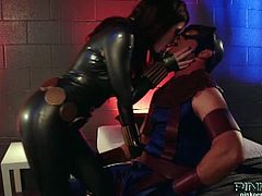 Watch the world mightiest heroes having a day off after saving the world! See the Black Widow, a fiery redhead bombshell (played by Brooklyn Lee) making out with Hawkeye before things get much more interesting!