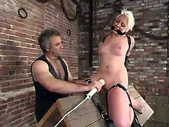 Her name is Lorelei Lee and she is being tortured so fucking hard. Babe gets her nice boobies squeezed and it seems like they are about to blow up!
