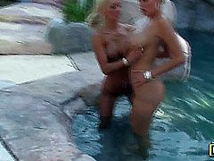 Lichelle Marie and Carly Parker, whopper lesbians having a good time.