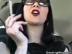 Sexy Milk Mina talks while shes in the car and smoking. She is super horny and wants to satisfy your smoking fetish. She knows how to talk dirty and make you cum!