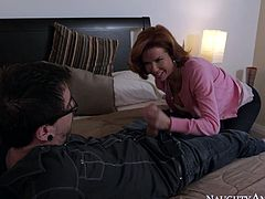 Raunchy mommy Veronica begs her secret lover to fuck her skull as hard as he can. She blows his huge dick like there's no tomorrow and gags on that hose taking it up her throat balls deep.