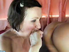 Brunette wants this lesbian sex session with horny Eve Tickler to last forever