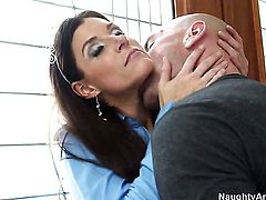Johnny Sins makes Asian India Summer scream and shout with his throbbing love stick in her wet hole
