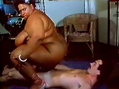 Big busty ebony sluts with huge melons and ass is what this skinny dude prefers so he called this slut to come and fulfill his nasty mind and body