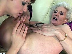These extremely perverted lesbians make each other cum, caressing each other's pussies orally in this hot old vs young sex scene.