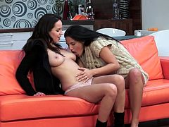 Hot lesbians are having deep oral stimulation during their top lesbian session