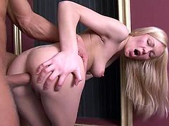 This goddess of love Jennifer is making some hot love! She brags that dick with her mouth and then it pumps her tight asshole hard.