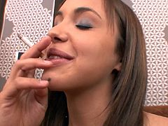 Staggering Lia Ezra is a true master in pleasing this guy during top POV