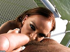 Christina Bella gets skull fucked the way she loves it