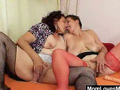 These mature ladies are so crazy! They are ready for any kind of perversion to make each other feel good. Watch it, if you love some hardcore.
