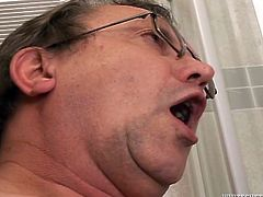 Lustful mature chick is ready to polish his cock all night long. She demonstrates her deepthroat talent. Watch Fame Digital old and young sex video right now.