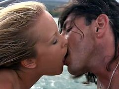 Two pretty girls Jessica Moore and Lucky are having some good time with a man on a yacht. They suck and rub his dick devotedly and then allow him to smash their throbbing snatches.