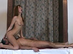 Slim beauty with perfect body enjoys a good fuck from a much older stud