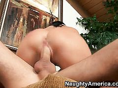 James Deen cant wait any more to stick his love wand in sex crazed Rebeca Linaress muff pie